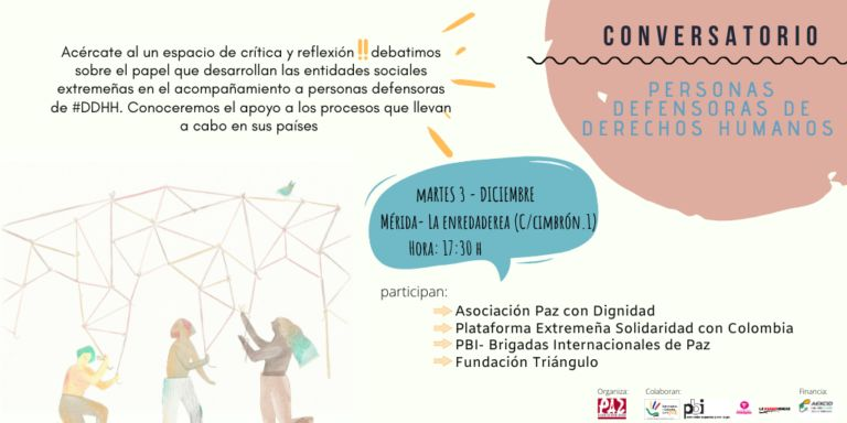 Cartel del acto Conservatorio de Personas defensoras de derechos humanos