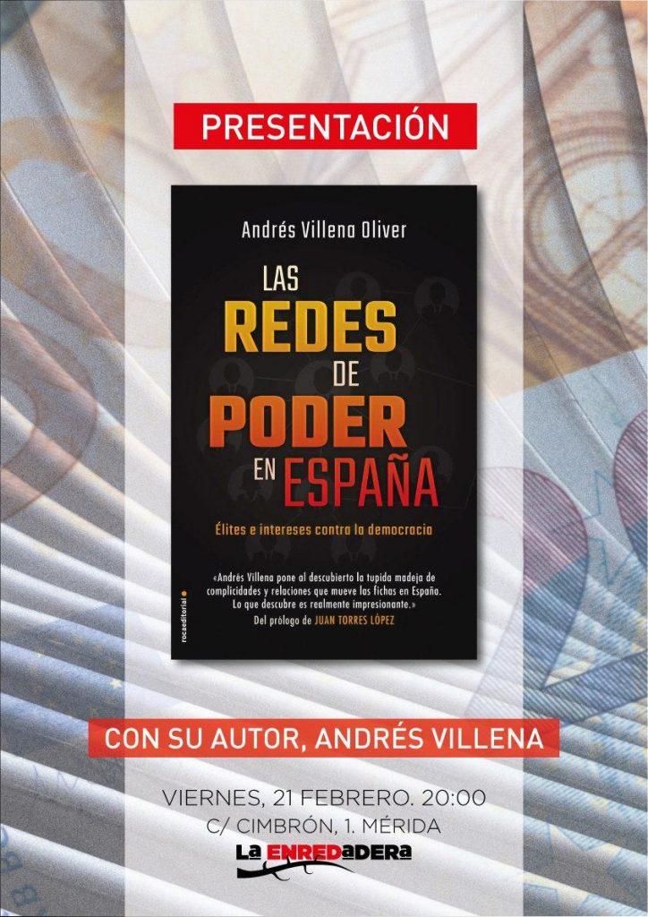 Cartel de presentación del libro las redes de poder en España